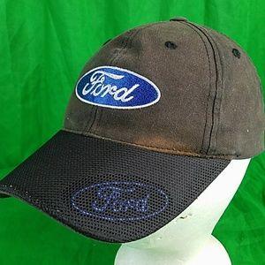 80d4553e Checkered Flag Accessories - Ford Distressed Discolored Strapback Hat Sun  Faded